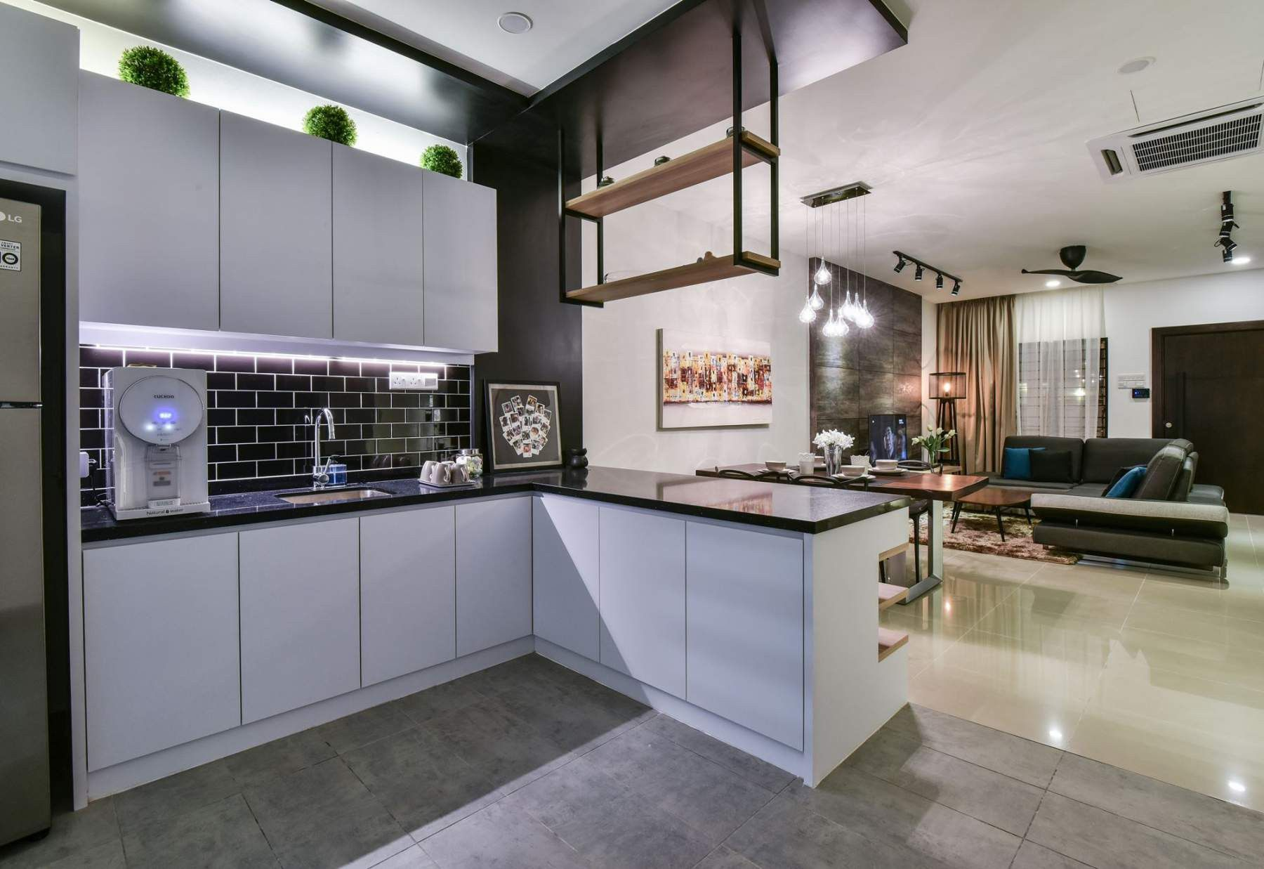 terrace house kitchen design ideas. MORE PHOTOS Contemporary twist for a Bandar Kinrara terrace house by Moonlit